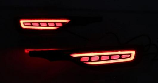 AL 2個 フィットジャズ 2018 2019 12 12V LED フォグランプリア バンパー ライトブレーキライト フロー ターン シグナル リフレクター AL-AA-9531