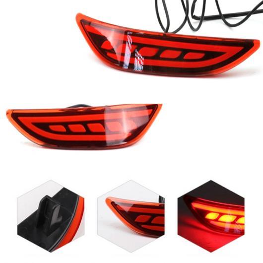 AL LED テールリア バンパー リフレクターライトランプ ホンダ CITY LED 駐車警告灯 灯 ストップ ブレーキランプテールリアフォグライトトリムランプブレーキライト 3 function AL-AA-9551