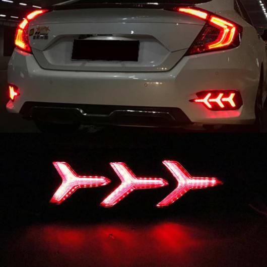 AL テールライト ホンダ シビック 2016 2017 リフレクター LED リア バンパー パーキング ブレーキ デイタイム 警告灯 3 Functions AL-AA-9559