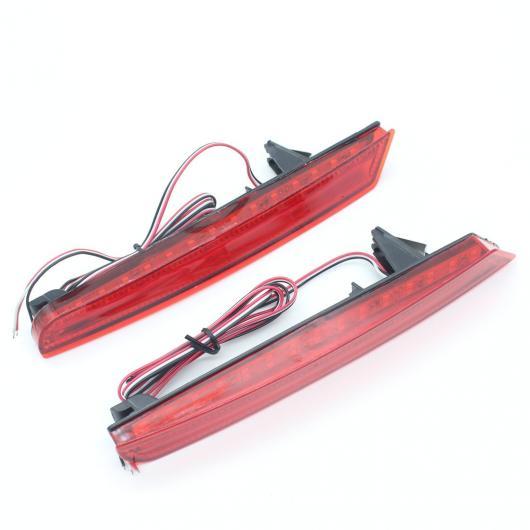 AL レッド リア バンパー リフレクターライトブレーキテール パーキング ワーニング ナイト テール ランプ LED ホンダ オデッセイ2009-2014 AL-AA-9595