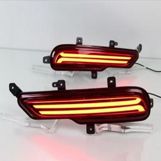 AL LED リア ライト + ブレーキ バンパー ビュイック ENビジョン 2014-2017 レッド AL-BB-0401