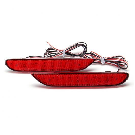 AL LED リア バンパー リフレクター ライト 日産 リーフ パスファインダー ローグ エクストレイル X トレイル JX35 QX56 デュアリス 2014-2015 選べる2バリエーション Red Lens・Smoke Lens AL-BB-0400