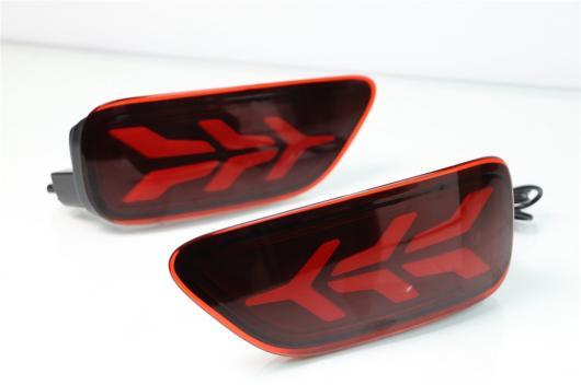 AL LED 日産 パトロール 2012-2019 多機能 リア バンパー リフレクター フォグ ランプ ブレーキ ライト ムービング 方向指示灯 3 functions AL-BB-0414