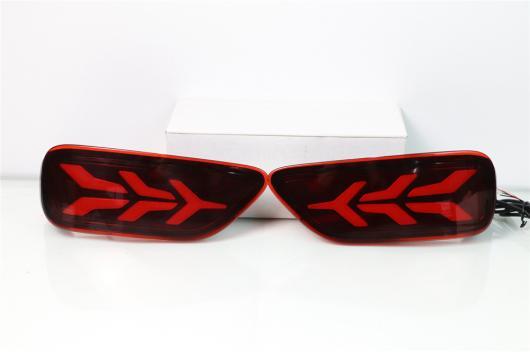 AL 多機能 LED リア バンパー リフレクター フォグ ランプ ブレーキ ライト ムービング 日産 パトロール 2012-2019 3Functions AL-BB-0452
