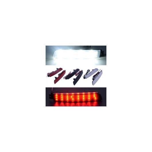 AL 12V 警告 LED バンパー リフレクター テール ランプ ブレーキ 日産 ジューク セントラ ムラーノ インフィニティ FX35 FX37 選べる3カラー ブラック~レッド AL-BB-0371