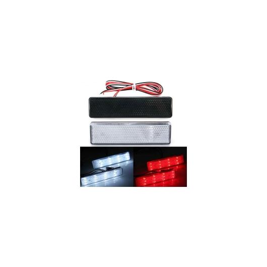 AL LED リア バンパー リフレクター シグナル テール ストップ ブレーキ ライト フォグ ランプ MOVANO VIVARO ルノー マスター TRAFIC 日産 プリマスター 選べる2カラー ブラック・クリア AL-BB-0393