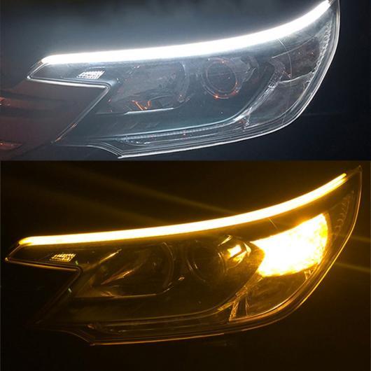 AL アンバーフラッシャー DRL LED フロー フレキシブル チューブストリップデイタイムランニングライトターン シグナル lce blue and yellow~white and yellow 30cm, 45cm, 60cm AL-BB-1136
