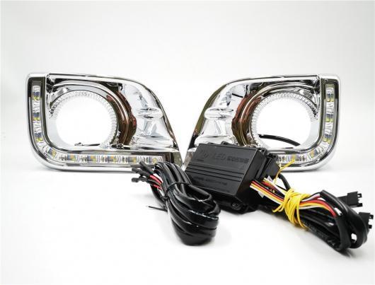 AL 点滅 1セット トヨタ プラド FJ150 LC150 ランド クルーザー 2700 2010 2011 2013 デイライト LED DRL デイタイムランニングライトライトフォグランプ シルバー WHITE AL-BB-1215