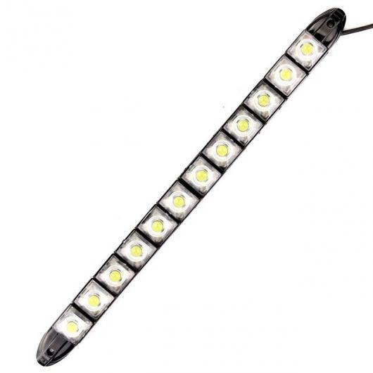 AL 2ピース ライトアセンブリ 6000K 12V フレキシブル LED DRL デイタイム ランニング ランプ デイライト COB フォード クーガ 12 Pcs Cob AL-BB-1374