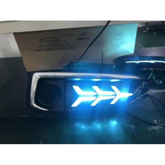 AL 2個セット デイランプ ホンダ シビック デイタイム ランニングライト 2019 2020Y LED DRL ヘッドライトシビック フォグランプ to 2020year 2pcs per set White yelo blue Honda Civic AL-BB-1379