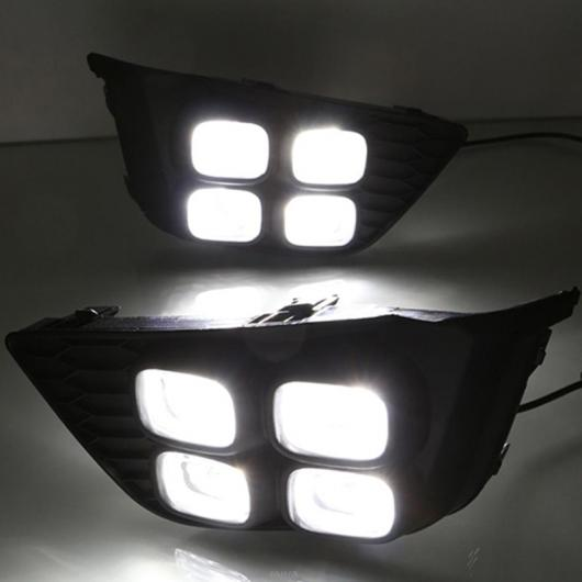 AL 点滅 ホンダ JAZZ FIT 2014 2015 2016 LED DRL デイタイム ランニングライト 昼光防水 シグナル イエロー カラードライビングライト For American Model・For Asia Model White and Yellow AL-BB-1338