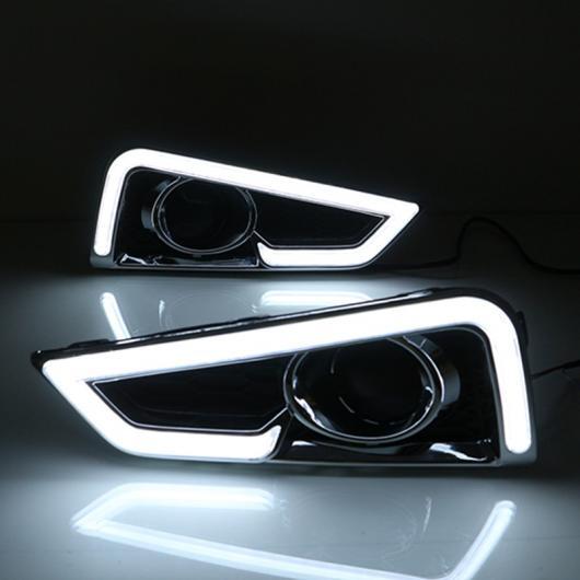 AL 点滅 LED デイタイムランニングライト ホンダ シティ 2015 2016フォグランプ カバー DRL イエロー カラー 方向指示灯 White AL-BB-1339