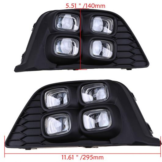 AL LED デイタイム ホンダ フィット ジャズ MK3 GK5 2014 2015 2016 2017 事前改築ホワイト DRL 駆動フォグ ランプ AL-BB-1364
