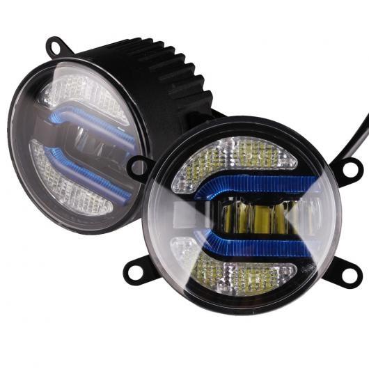 AL 1ペア 3.5 インチ 90mmデイタイムランニングライト LED フォグライトランプ バルブ ホンダ 日産 スズキ 三菱 フォード トヨタ 選べる2バリエーション Color A・Color B AL-BB-1434
