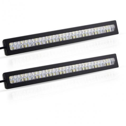 AL 2個 防水デイタイムランニング ライト LED DRL DIY 外部 超高輝度 12V CE ホワイト 2 Rows LED AL-BB-1670