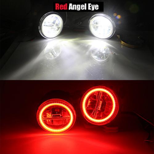 AL インフィニティ G G25 G37 H11 4000LM LED バルブ フォグ ライト エンジェル アイデイタイムランニング DRL 12 240V 2011 2012 2013 Red Angel Eye AL-BB-1711
