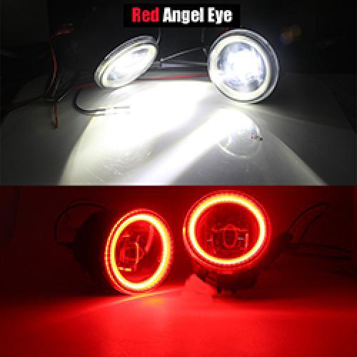 AL 日産 NV200 H11 LED バルブ フォグ ランプ キット DRL デイタイムランニング ライト 12V 2010 2011 2012 2013 2014 2015 Red Angel Eye AL-BB-1739