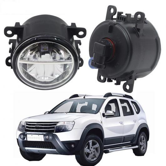 AL 2個 LED フォグ ライト 4000LM DRL デイタイムランニング ランプ ホワイト 12 ルノー ダスタークローズドオフロード 2012 ~ 2015 AL-BB-1683