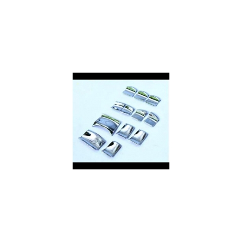 AL 日産 デュアリス J11 エクストレイル T32 シルフィ シルフィティアナ ティーダ クローム ウインドウ リフトスイッチボタン カバー 12ピース AL-BB-1841