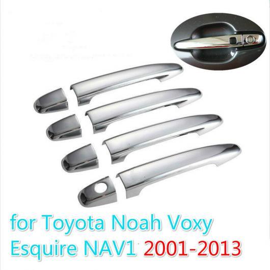 AL トヨタ ノア ヴォクシー 2001-2013 クローム ドアハンドルカバ アクセサリー ステッカー 選べる3バリエーション no button~2 buttons AL-BB-2944