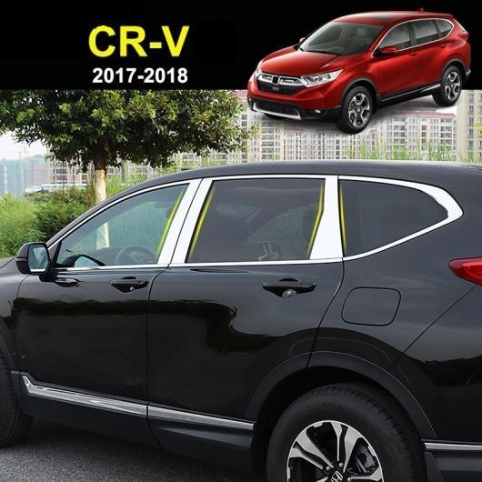 AL ホンダ CR-V CRV 第5世代 2017-2019 ステンレス クローム ドア ウインドウ ピラー ポスト カバー トリム モールディング ガーニッシュオーバーレイプロテクター AL-BB-3032