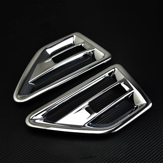 AL ABS クローム ランドローバーフリーランダー2 LR2 2011 2012 2013 2014 2015ドアエアベントノズル カバー トリム ACコンセント マット Glossy AL-BB-7191