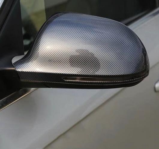 AL 2ピース アウディ A4L A4 L 2009-2016 ABS プラスチック カーボン ファイバー ペイントサイド バック ミラー カバー サイド キャップ AL-BB-6581