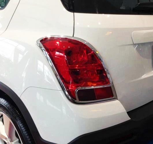 AL 2ピース シボレーシェビー トラックス トラッカー2014 2015 ABS クローム リア テール ライト ランプ カバー フレーム 保護 選べる2タイプ タイプA・タイプB AL-BB-6628
