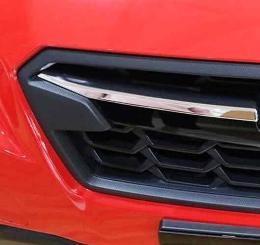 AL スバル XV 5ドアハッチバック2017 2018 ABS クローム エクステリア アッパー フロント + グリル カバー トリム 4ピース AL-BB-6670