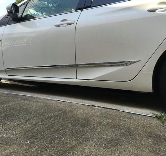 AL 4ピース トヨタ プリウス XW50 2016 2017 ABS クローム ボディ サイドドアモールディング トリム ドア シル ストリップ AL-BB-6825