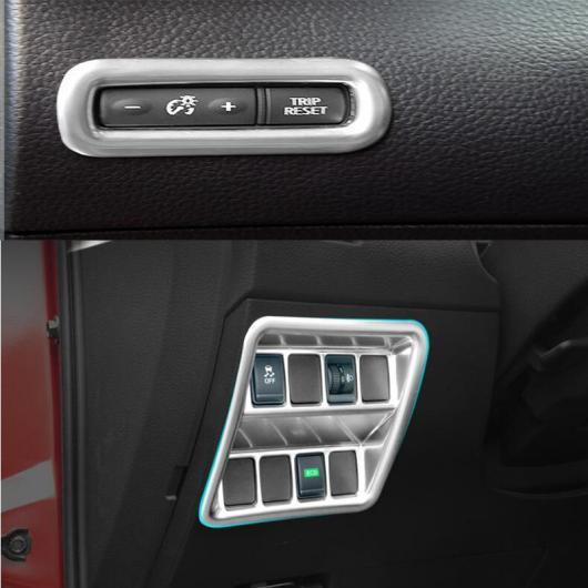 AL 日産 エクストレイル 2014 2015 2016 ABS クローム フロント ヘッド ライト スイッチボタン カバー トリム モールディング ステッカーベゼル AL-BB-6869