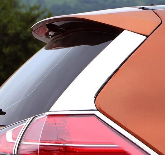 AL 日産 エクストレイル T32ローグ2014 2015 2016 ステンレス スチール リア スポイラーサイド カバー トリム AL-BB-6901