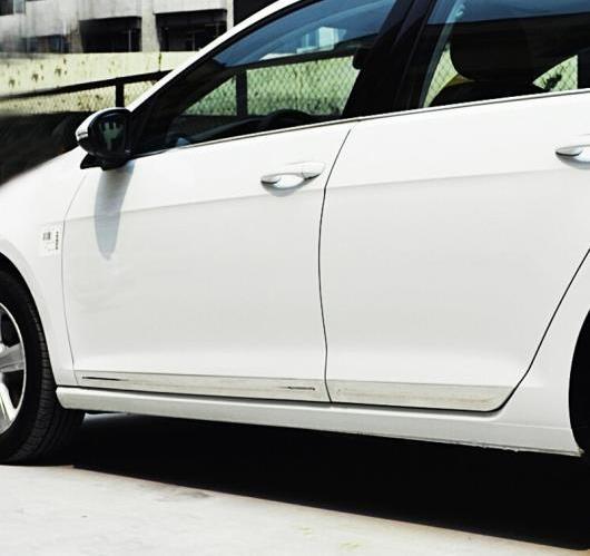 AL フォルクスワーゲン VW ゴルフ 7 MK7 GTI R 2013-2017 ステンレス スチール サイドドア ボディ カー トリム ストリップ クローム 保護4ピース/セット AL-BB-7003