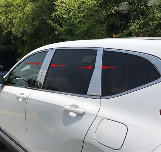 AL ホンダ CRV CR-V 2017 2018 ステンレス スチール ガラス ウインドウ ガーニッシュ ピラー ミドル カバー トリム 6ピース AL-BB-7053