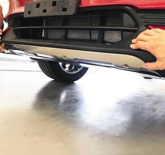 AL マツダ CX-5 2017 2018 ステンレス スチール フロント リア スキッド プレート バンパー ボード カバー 2ピース AL-BB-7107