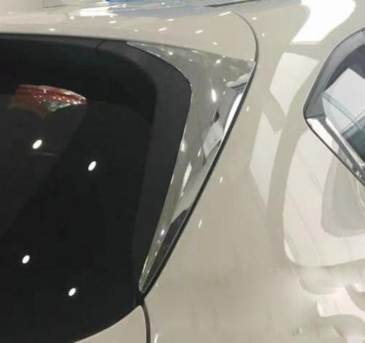 AL 2ピース ABS クローム サイドドア リア ビューウィンドウスポイラー カバー トリム トライアングル マツダ CX9 CX-9 2016-2019 AL-BB-7123