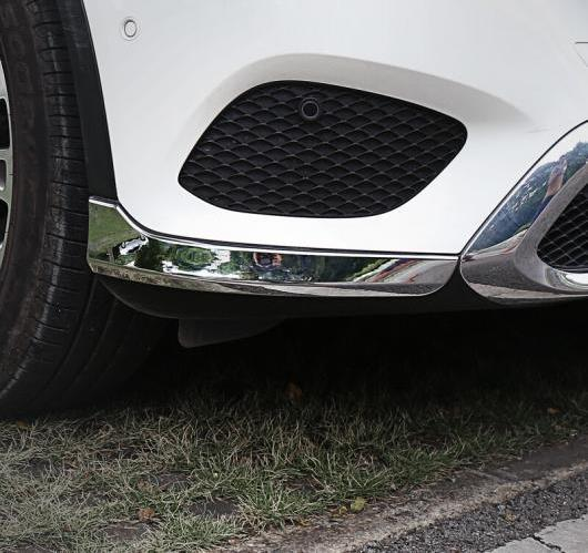 AL 2ピース メルセデスベンツ GLC X205 2015 2016 ABS フロント バンパー コーナー モールディング カバー AL-BB-7182
