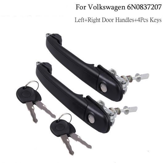 AL ドアロック フロント右 左 バレル 4ピースキー VW ポロ + 右 ドアハンドル 6N0837207 4 キー タイプ001 AL-BB-7716