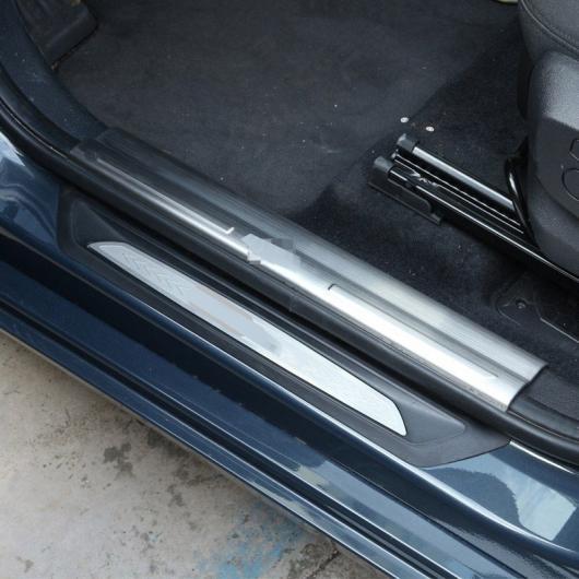 AL 4 ×ステンレス スチール インサイドドアシルスカッフプレートプレート しきい プレート BMW 2シリーズアクティブツアラー5 7席F45 F46 218i 2015-2017 選べる2バリエーション 5 seats・7 seats AL-CC-7090