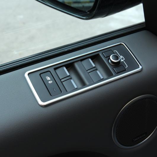 AL 4ピース クローム インテリア ドア ウインドウ リフト ボタン カバー トリム ステッカー レンジ ローバー スポーツ 2014 2015 AL-CC-7097