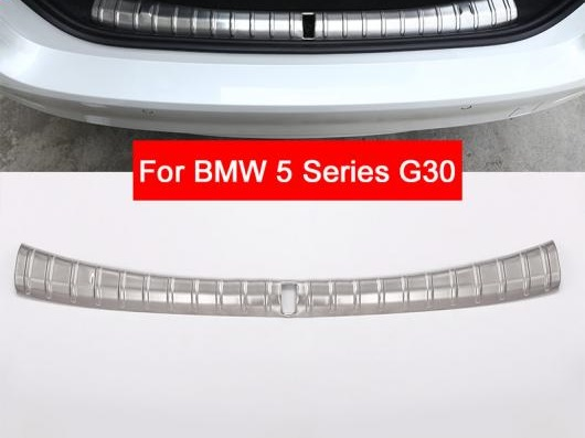 AL BMW 5シリーズG30 2017 2018 リアインテリア 外側 バンパー プロテクタープレート304ステンレス スチール 選べる2バリエーション Inside・Outside AL-CC-7146