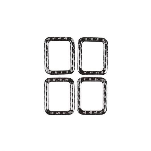AL カーボンファイバー チャイルド ロック装飾フレーム ランドローバー ディスカバリースポーツ 2015-2019 Carbon Fiber AL-CC-7355