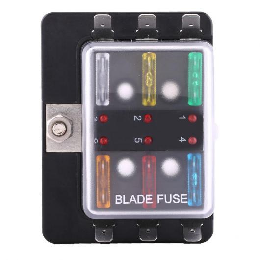 AL 6ウェイ 100A 32 V 回路ブレードヒューズボックス LED 警告 ボート マリン スタイルヒューズブロック AL-DD-1036