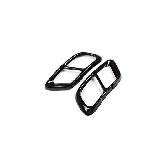 AL 2個 クロムステンレス スチール エキゾースト パイプ カバー BMW X5 G05 X7 G07 2019 ブラック AL-DD-4270