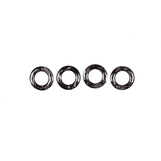 AL 4個 カーボンファイバースタイル ドアロック メルセデスベンツ GLC X253 C クラス W205 2015-2019 ブラック AL-DD-4344