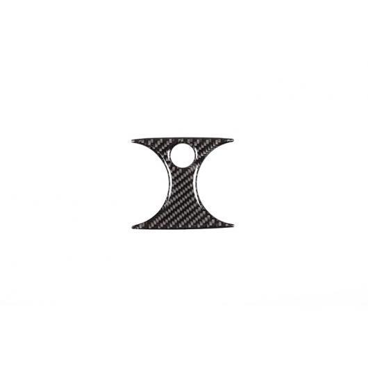 AL カーボンファイバー 後列 エアコン ベントステッカー メルセデスベンツ C クラス W205 C180 C260 C300 GLC X253 15-19 ブラック AL-DD-4378