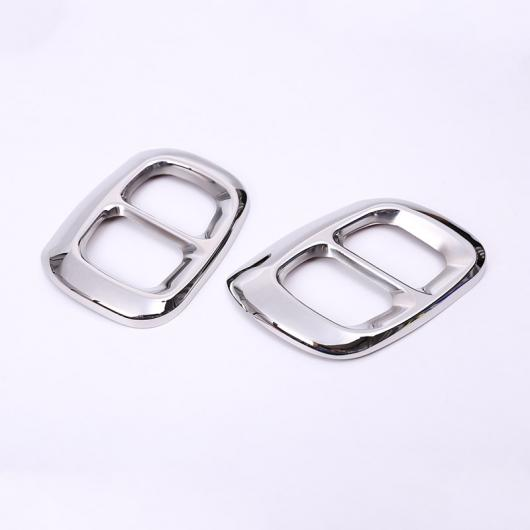 AL 2個 ステンレス スチール クローム メルセデスベンツ GLA クラス X156 エキゾースト 出力 テール カバー インフィニティ Q30 QX30 shiny silver AL-DD-5444