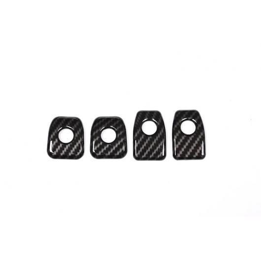 AL 4X カーボン調 ABS ドアロック カバー BMW X5 F15 X6 F16 2015 ~ 2018 Carbon Fiber style AL-DD-5884