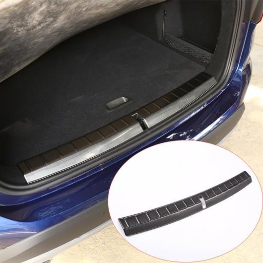 AL 304ステンレスリア バンパー 内側プレートプロテクター カバー トリムステッカー BMW X1 F48 2016 2017 選べる2カラー ブラック・シルバー AL-DD-5451