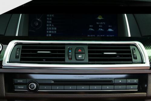 AL クロームコンソール空調ベント BMW 5 シリーズ F10 2011-2016 520Li 525Li スタイリング AL-DD-5561